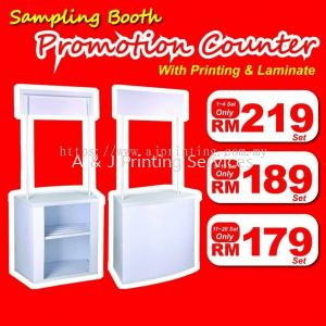 Special Offer PP Promotion Booth Siap Printing RM 179 only MOQ : 1PC
