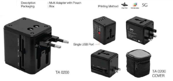 TA02 TRAVEL ADAPTER Kuala Lumpur (KL), Malaysia, Selangor Supplier, Manufacturer, Supply, Supplies | En Gift Industri (M) Sdn Bhd