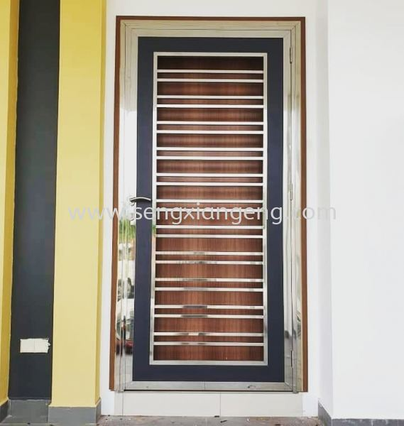 Stainless Steel Front Door Stainless Steel Door Stainless Steel  Johor Bahru JB Electrical Works, CCTV, Stainless Steel, Iron Works Supply Suppliers Installation  | Seng Xiang Electrical & Steel Sdn Bhd
