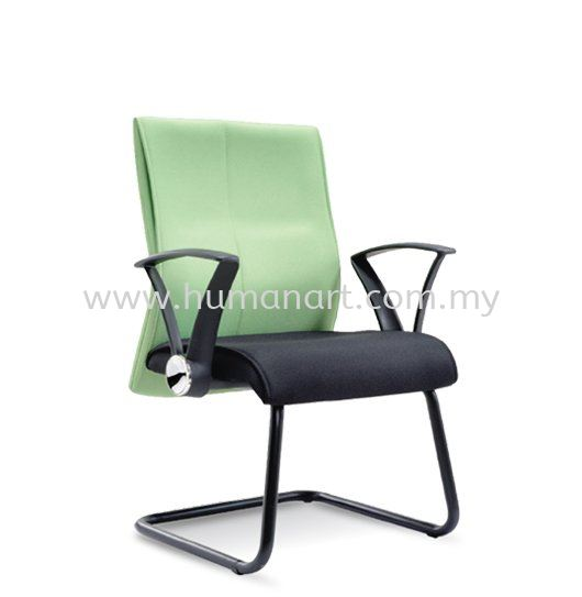 RISE STANDARD VISITOR CHAIR WITH EPOXY BLACK CANTILEVER BASE ASE 123
