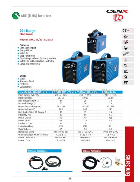 CENX WIM MMA INVERTER MACHINE MMA 201/201X/201XP CENX WIM WELDING EQUIPMENT ACCESSORIES Johor Bahru (JB), Malaysia, Mount Austin Supplier, Suppliers, Supply, Supplies | VICKMA HARDWARE SDN. BHD.