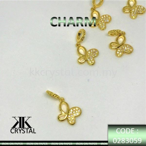 830599, CHARM, BUTTERFLY, 0283059, GOLD PLATED, 5PCS/PCK Charm  Jewelry Findings, White Gold Plating Kuala Lumpur (KL), Malaysia, Selangor, Klang, Kepong Wholesaler, Supplier, Supply, Supplies | K&K Crystal Sdn Bhd