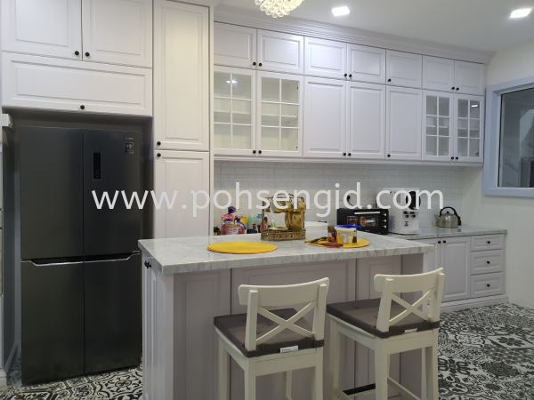 Nyatoh Spray Paint Kitchen Cabinet #SURIAMAN  Kitchen Seremban, Negeri Sembilan (NS), Malaysia Renovation, Service, Interior Design, Supplier, Supply | Poh Seng Furniture & Interior Design
