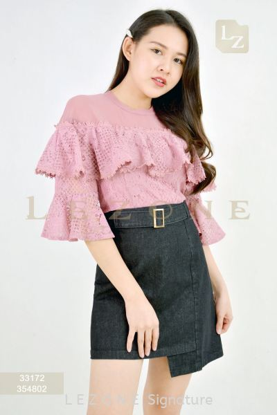 354802 HIGH-LOW DENIM SKIRT¡¾2ND 50%¡¿ Skirts B O T T O M Selangor, Kuala Lumpur (KL), Malaysia, Serdang, Puchong Supplier, Suppliers, Supply, Supplies | LE ZONE Signature