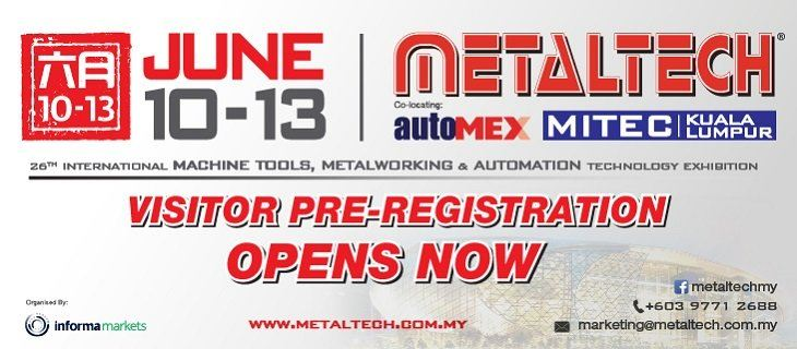 METALTECH 2020  June 2020 Malaysia Future, Upcoming, Fair, Exhibition | NEWEVENT MALAYSIA