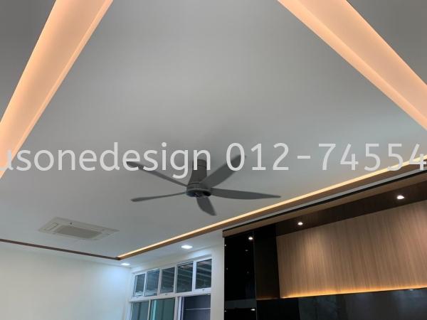 Ceiling Work Johor Bahru (JB) Interior Design, Renovation, Custom Made Furniture | Plus One Design Construction