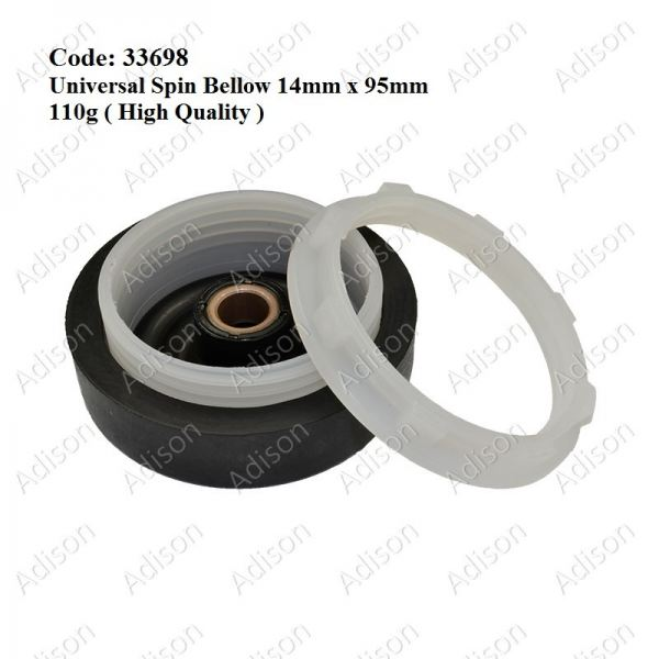 Code: 33698 Universal Spin Bellow 14mmx95mm Spin Seal / Spin Bellow Washing Machine Parts Melaka, Malaysia Supplier, Wholesaler, Supply, Supplies | Adison Component Sdn Bhd