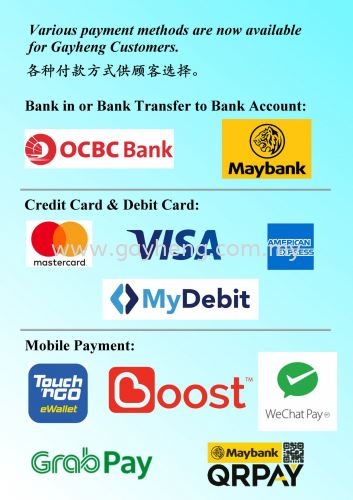 Various Payment Method Accepted here! ���ָ��ʽ��ѡ��