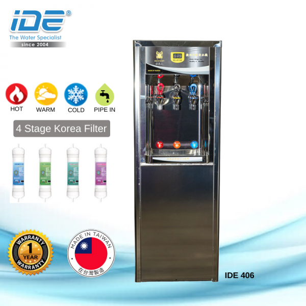 IDE 406 Stainless Steel Water Cooler (Hot&Warm&Cool) Water Boiler/ Water Cooler Water Dispenser Johor Bahru JB Malaysia Supply, Supplier & Wholesaler | Ideallex Sdn Bhd