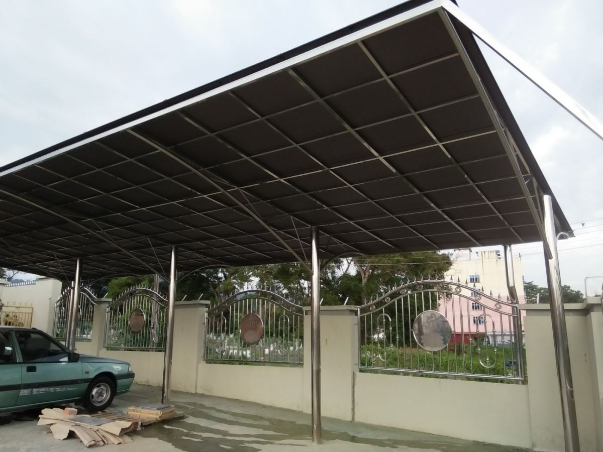 Car Parking Awning Polycarbonate Roof Roofing Malaysia Reference Renovation Design Homebagus Home And Deco Online