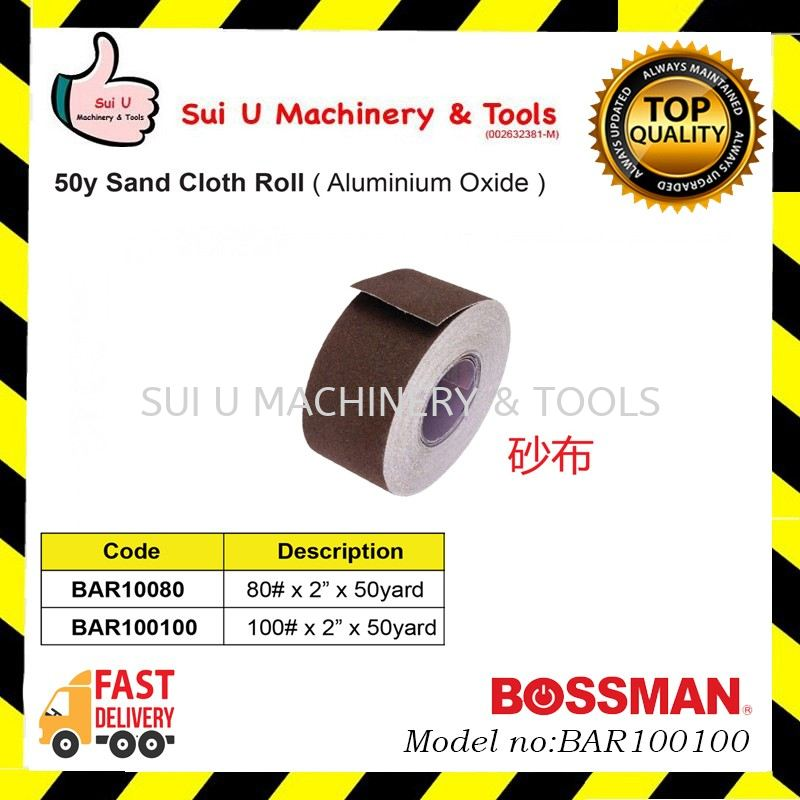 BOSSMAN BAR100100 50yard Sand Cloth Roll (Aluminium Oxide)
