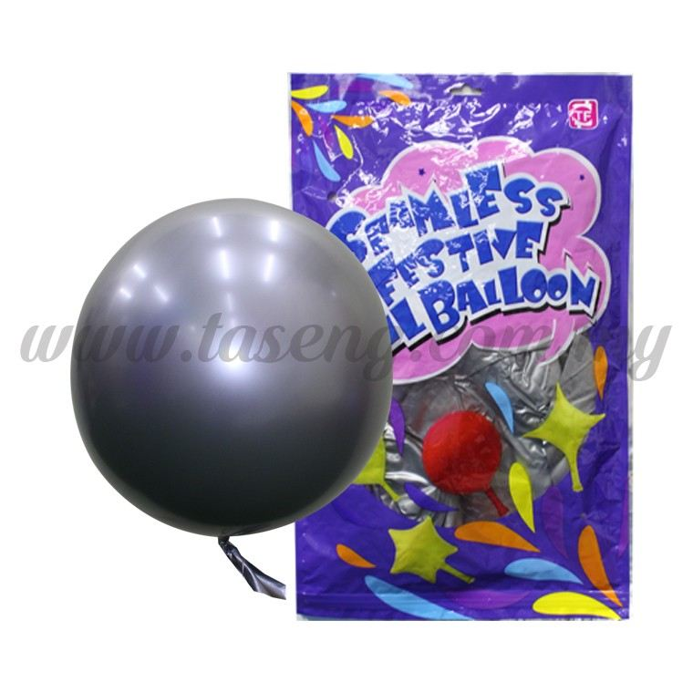 22inch Seamless Festive Chrome Bubble Balloon *Silver 1pack (B-22CBB-SI)