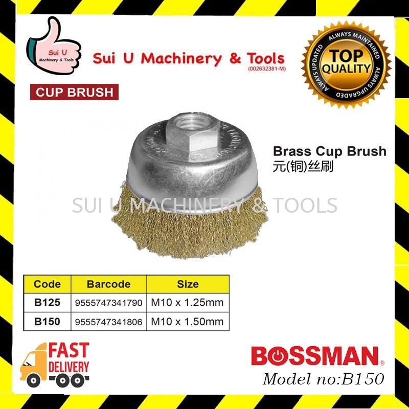 BOSSMAN B150 Brass Cup Brush M10x1.50mm