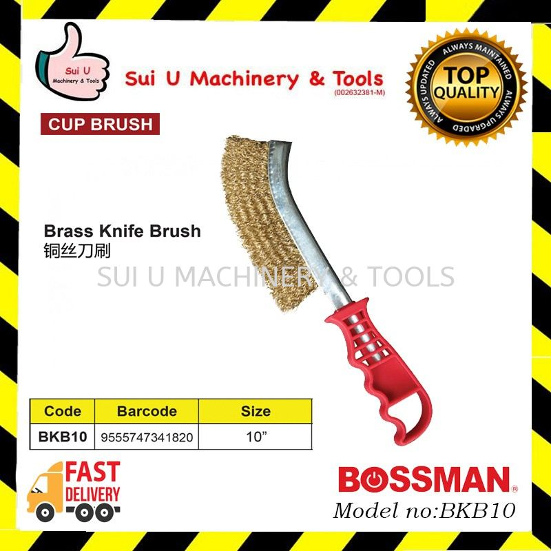 BOSSMAN BKB10 Brass Knife Brush 10inches