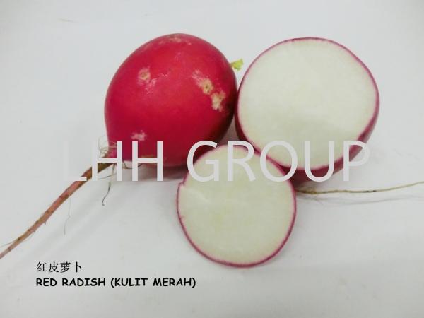 Red Radish (Kulit Merah) Vegetable China Malaysia, Johor Bahru (JB), Singapore, Kulai Exporter, Supplier, Distributor, Importer | Lian Hoe Huat Enterprise (M) Sdn Bhd