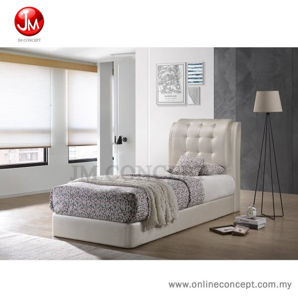 JM Concept Curve Single/Super Single Size Divan Bed Single / Super Single PVC Bedframe Muar, Johor, Malaysia Furniture, Supplier, Supply, Supplies | Online Concept Store Sdn Bhd