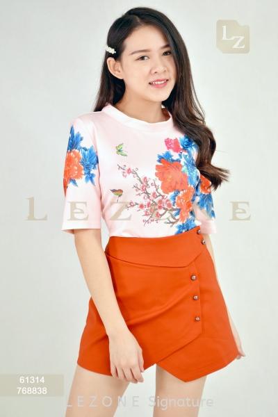 61314 Printed Floral Blouse Sleeved Tops T O P Selangor, Kuala Lumpur (KL), Malaysia, Serdang, Puchong    LE ZONE Signature