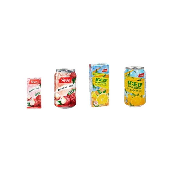 Yeo's Lychee & Ice Lemon Tea Yeo's Johor Bahru (JB), Malaysia, Mount Austin Supplier, Wholesaler, Distributor, Supplies   Hao Ji Agency