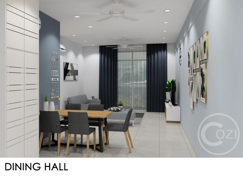BM city Condo Renovation work Dining Area Interior Design (residential) Penang, Malaysia, Butterworth Design, Renovation, Contractor, Services | Cozi Design Sdn Bhd