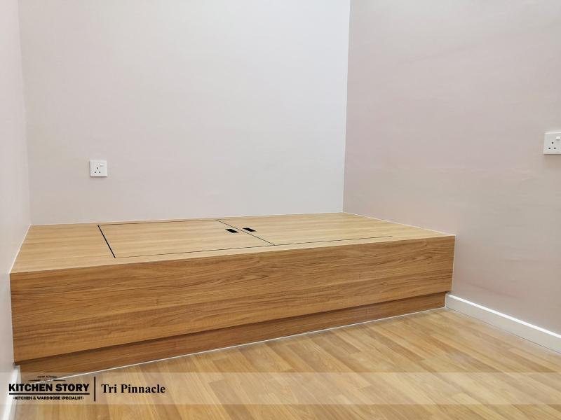 Bed Platform with Storage Function Platform Tatami  Penang, Malaysia, Bayan Lepas Kitchen, Design | Kitchen Story Sdn Bhd