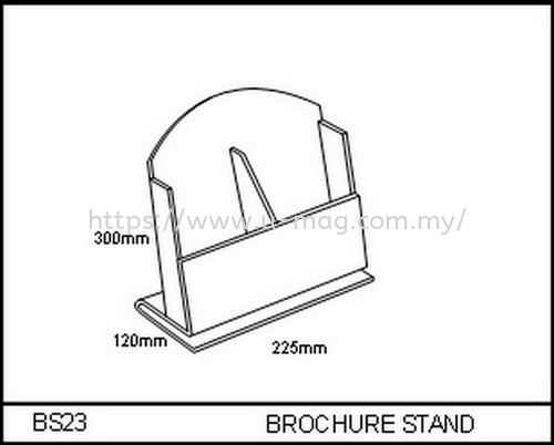 BS23 BROCHURE STAND 资料架   Manufacturer, Supplier, Supply, Supplies | U-Mag Acrylic Products (M) Sdn Bhd