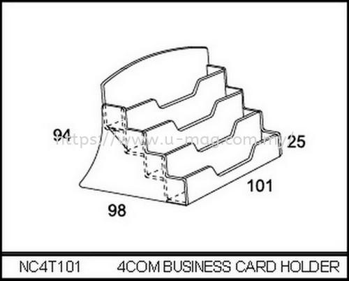 NC4T101 4COM BUSINESS CARD HOLDER BROCHURE STAND Malaysia, Johor Bahru (JB), Ulu Tiram Manufacturer, Supplier, Supply, Supplies   U-Mag Acrylic Products (M) Sdn Bhd