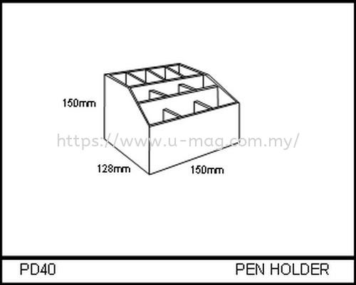 PD40 PEN HOLDER STATIONERY DISPLAY Malaysia, Johor Bahru (JB), Ulu Tiram Manufacturer, Supplier, Supply, Supplies | U-Mag Acrylic Products (M) Sdn Bhd
