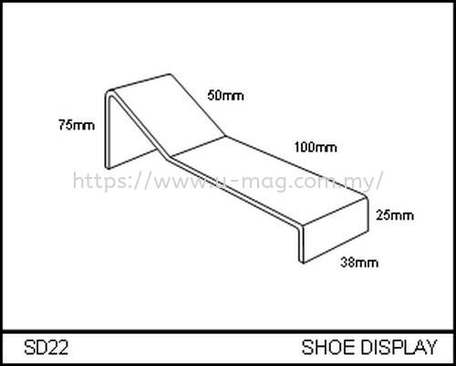 SD22 SHOE DISPLAY WALLET & SHOE DISPLAY Malaysia, Johor Bahru (JB), Ulu Tiram Manufacturer, Supplier, Supply, Supplies   U-Mag Acrylic Products (M) Sdn Bhd