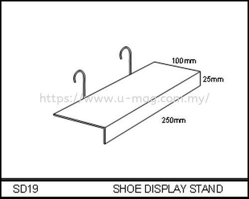 SD19 SHOE DISPLAY STAND WALLET & SHOE DISPLAY Malaysia, Johor Bahru (JB), Ulu Tiram Manufacturer, Supplier, Supply, Supplies | U-Mag Acrylic Products (M) Sdn Bhd