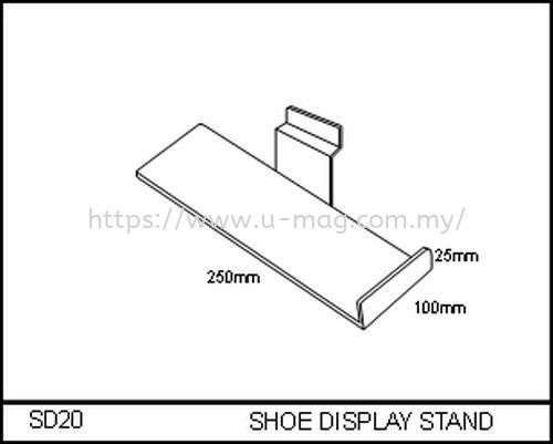 SD20 SHOE DISPLAY STAND WALLET & SHOE DISPLAY Malaysia, Johor Bahru (JB), Ulu Tiram Manufacturer, Supplier, Supply, Supplies | U-Mag Acrylic Products (M) Sdn Bhd