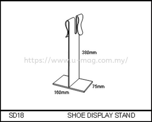 SD18 SHOE DISPLAY STAND WALLET & SHOE DISPLAY Malaysia, Johor Bahru (JB), Ulu Tiram Manufacturer, Supplier, Supply, Supplies | U-Mag Acrylic Products (M) Sdn Bhd