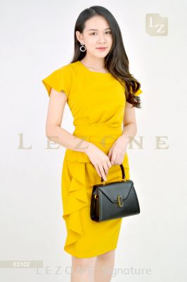 63102 RUFFLE SLEEVE DRESS��1st 10% 2nd 20% 3rd 30%��