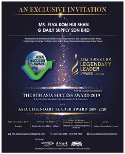 ASIA SUCCESS AWARD 2019
