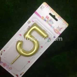 Numbered Candles / Gold Candles Celebration Candles Kuala Lumpur (KL), Malaysia, Selangor Supplier, Suppliers, Supply, Supplies | Balloonaire Sdn Bhd