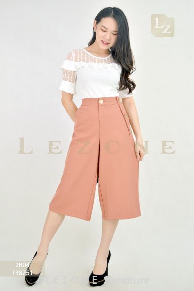 768751 POCKET DETAIL CULOTTES ¡¾2ND 50%¡¿ Bottoms On Sale S A L E  Selangor, Kuala Lumpur (KL), Malaysia, Serdang, Puchong Supplier, Suppliers, Supply, Supplies | LE ZONE Signature