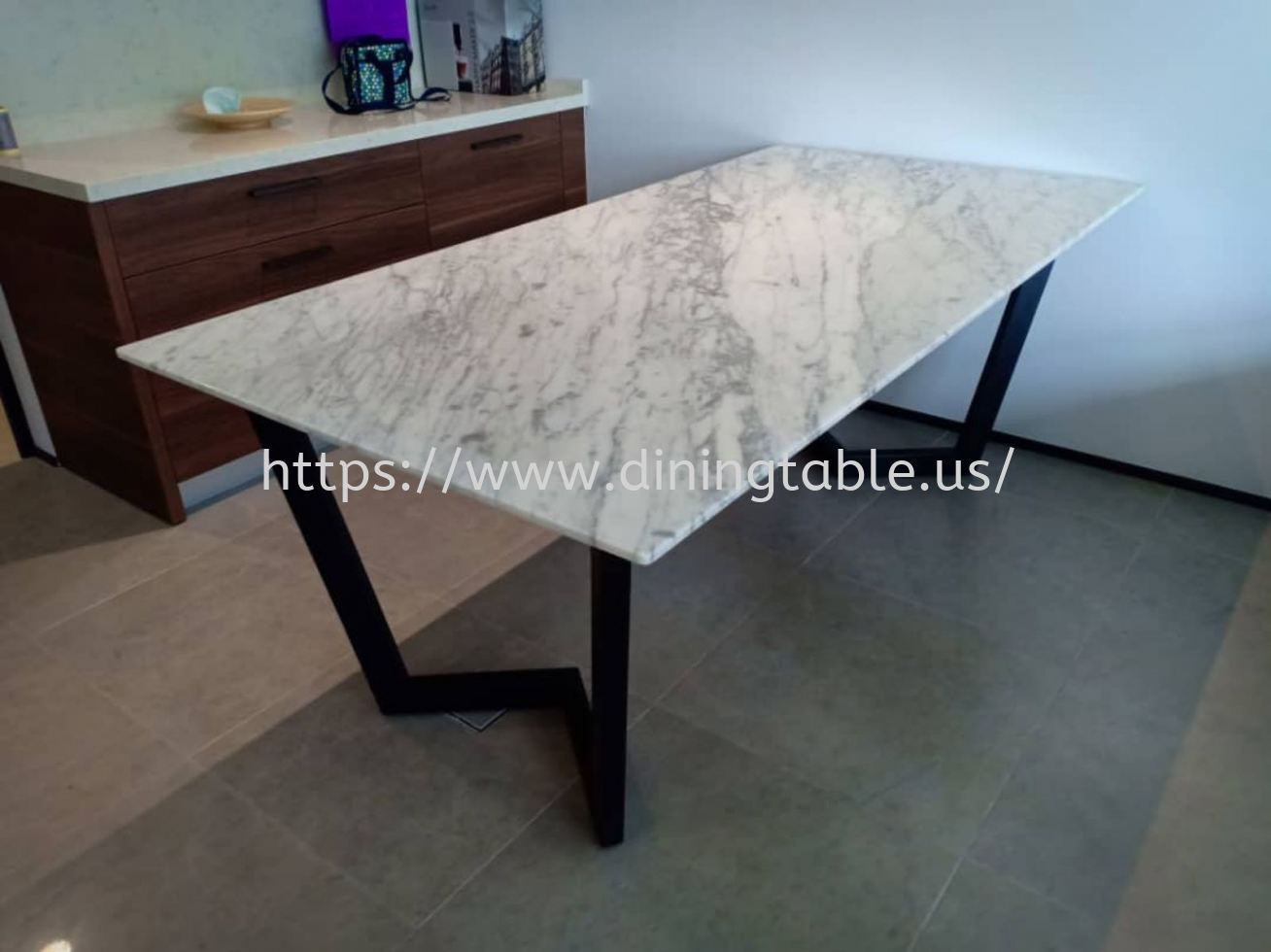 White Marble Dining