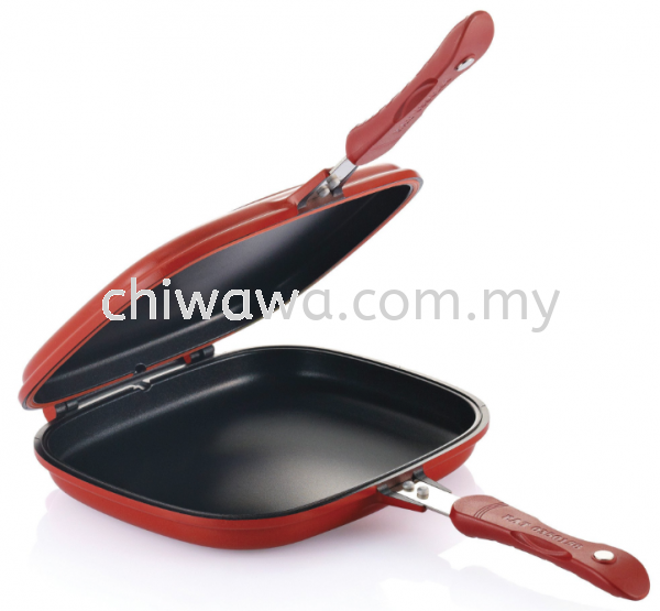 Double Sided Grill Fry Pan (Red) Kitchen Dining Home Living Selangor, Malaysia, Kuala Lumpur (KL), Sungai Buloh Supplier, Suppliers, Supply, Supplies | Chiwawa Asia Sdn Bhd