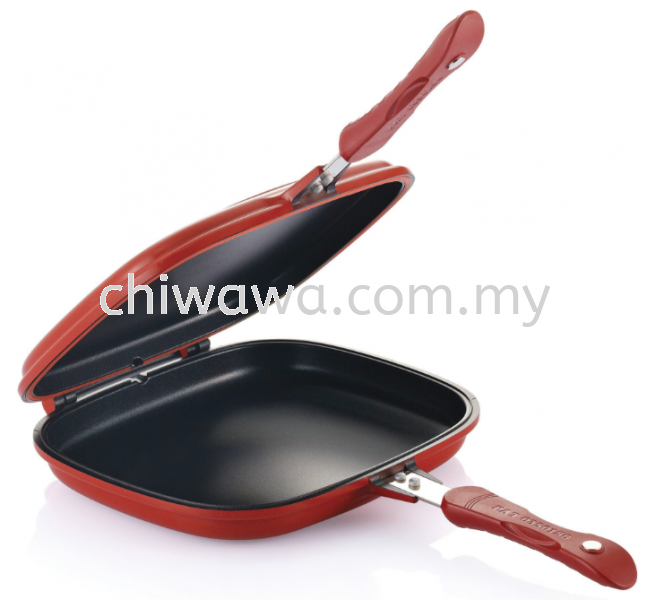 Double Sided Grill Fry Pan (Red) Kitchen Dining Home Living Selangor, Malaysia, Kuala Lumpur (KL), Sungai Buloh Supplier, Suppliers, Supply, Supplies   Chiwawa Asia Sdn Bhd