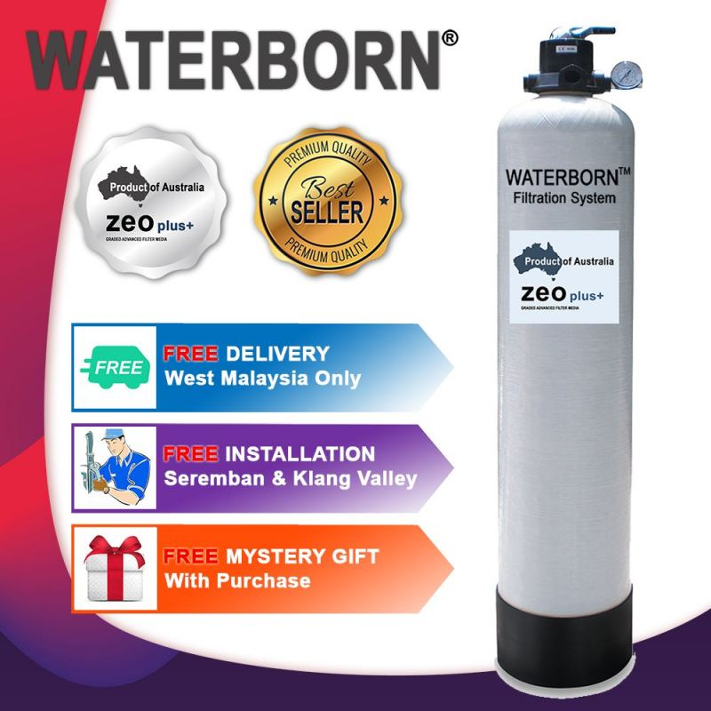 WATERBORN W-10 Master Filter Outdoor Filter with Australia Zeoplus Media (Warranty : Body Vessel - 5 Years, MPV & Accessory - 1 Year)