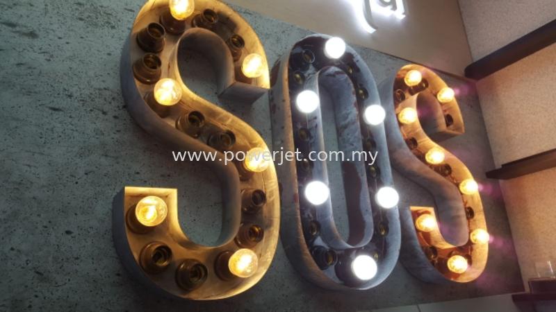 Lightbulb Box Lettering  SIGNBOARD Puchong, Selangor, Malaysia Supply, Design, Installation | Power Jet Solution Sdn Bhd