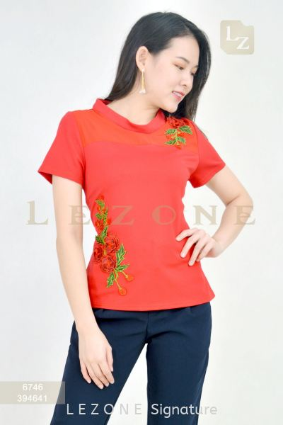 6746 EMBROIDERED SLEEVE BLOUSE¡¾Value Buy RM50¡¿ Top On Sale S A L E  Selangor, Kuala Lumpur (KL), Malaysia, Serdang, Puchong Supplier, Suppliers, Supply, Supplies | LE ZONE Signature