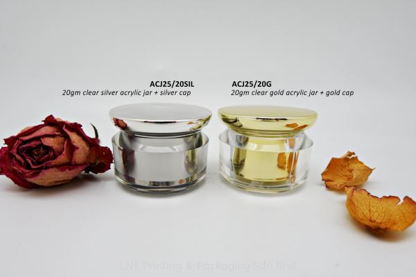 ACJ25/20gm ACRYLIC JAR Acrylic Jar Acrylic Bottle & Jar Penang, Malaysia, Bukit Mertajam Supplier, Services, Supply, Supplies | LNT Printing & Packaging Sdn Bhd