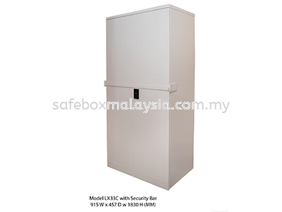 Full Height Steel Cupboards Security Bar LX33C Full Height Steel Cupboard Steel Furniture Malaysia, Selangor, Klang, Kuala Lumpur (KL) Supplier, Suppliers, Supply, Supplies | Safe Box Asia Sdn Bhd
