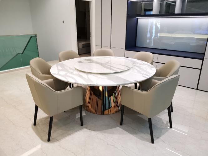 Italian Premium White Marble Dining Table