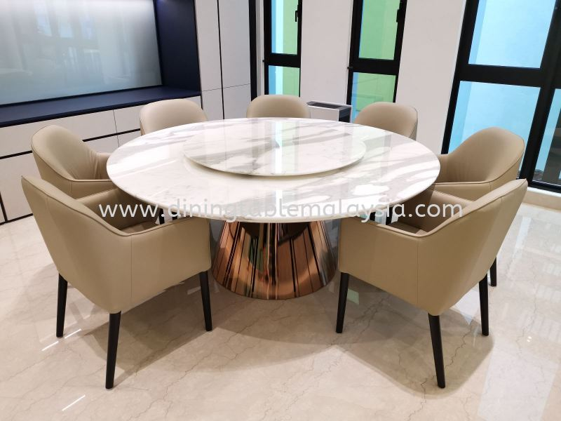 Calacatta Marble Dining Table Stain Resistant  Marble Dining Table Malaysia, Selangor, Kuala Lumpur (KL), Petaling Jaya (PJ) Supplier, Suppliers, Supply, Supplies | DeCasa Marble Sdn Bhd