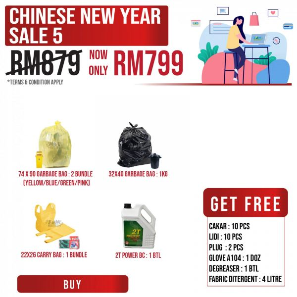 Chinese New Year Sale 5 Cleaning Product Promotion Sale & Promotion Selangor, Klang, Malaysia, Kuala Lumpur (KL) Supplier, Suppliers, Supply, Supplies | HH Plastech Industries Sdn Bhd