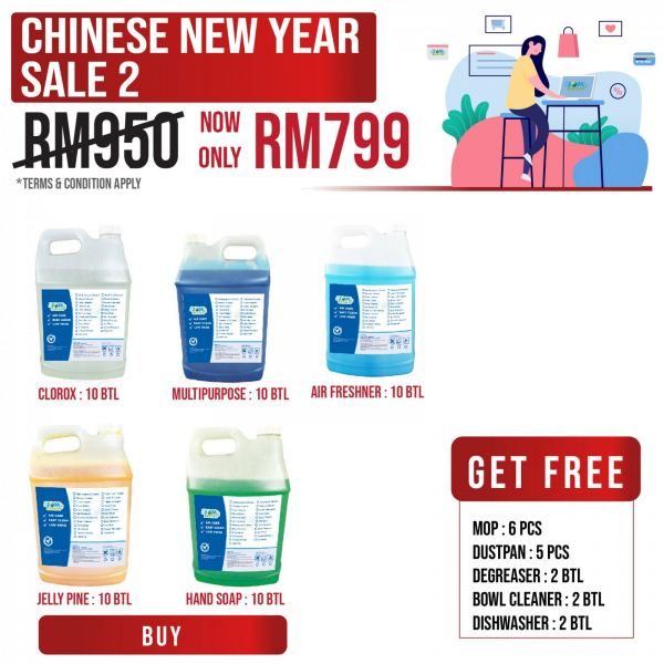 Chinese New Year Sale 2 Cleaning Product Promotion Sale & Promotion Selangor, Klang, Malaysia, Kuala Lumpur (KL) Supplier, Suppliers, Supply, Supplies | HH Plastech Industries Sdn Bhd