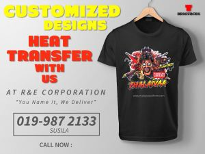 Custimized Designs Heat Transfer With Us!!