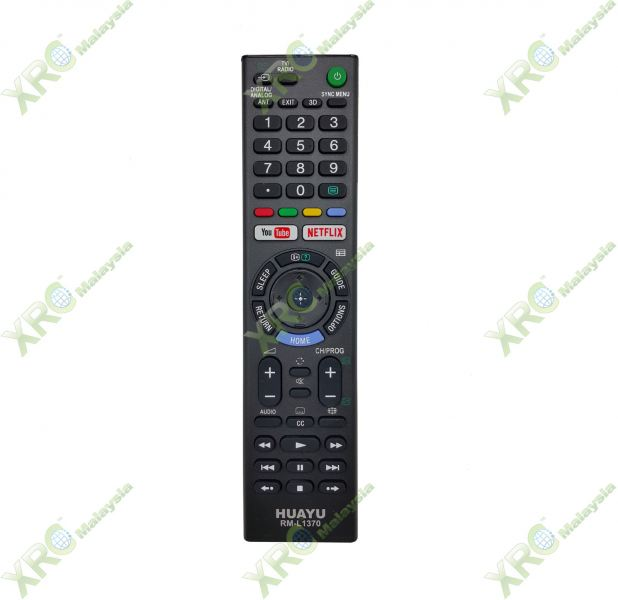 RM-L1370 SONY YOUTUBE NETFLIX LCD LED TV REMOTE CONTROL SONY LCD/LED TV REMOTE CONTROL Johor Bahru JB Malaysia Manufacturer & Supplier | XET Sales & Services Sdn Bhd