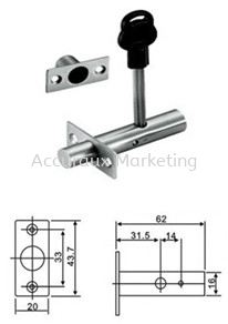 Single Security Dead Bolt With Key PVC Cover  Door Accessories 01. ARCHITECTURAL HARDWARE Selangor, Malaysia, Kuala Lumpur (KL), Sungai Buloh Supplier, Distributor, Supply, Supplies | Accuraux Marketing Sdn Bhd